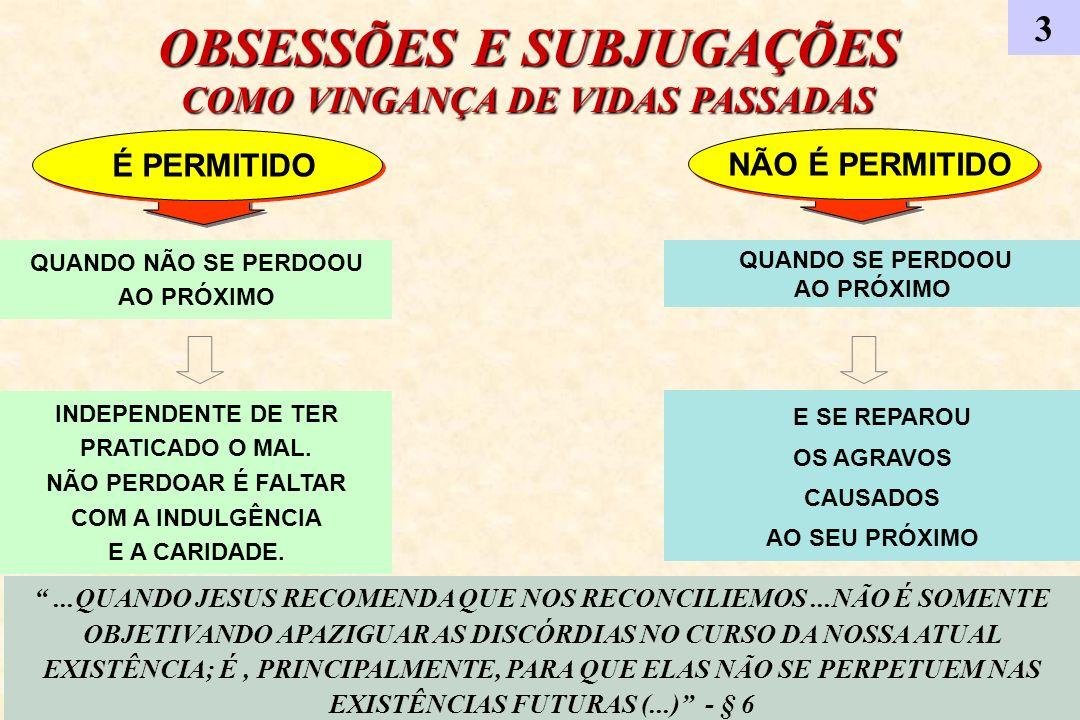 OBSESSÕES E SUBJUGAÇÕES COMO VINGANÇA DE VIDAS PASSADAS