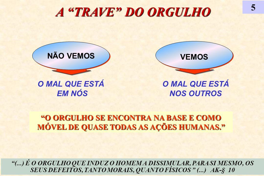 A TRAVE DO ORGULHO 5 NÃO VEMOS VEMOS O MAL QUE ESTÁ EM NÓS