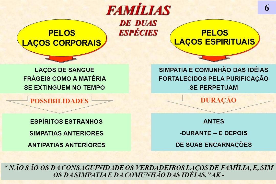 FAMÍLIAS DE DUAS ESPÉCIES