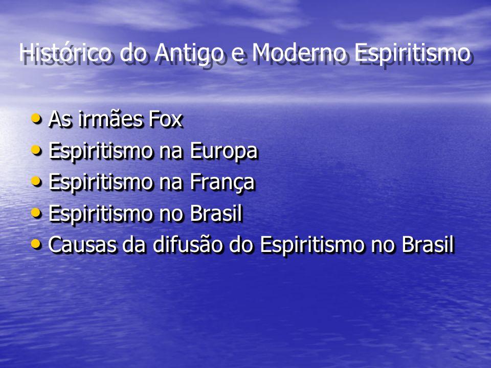 Histórico do Antigo e Moderno Espiritismo