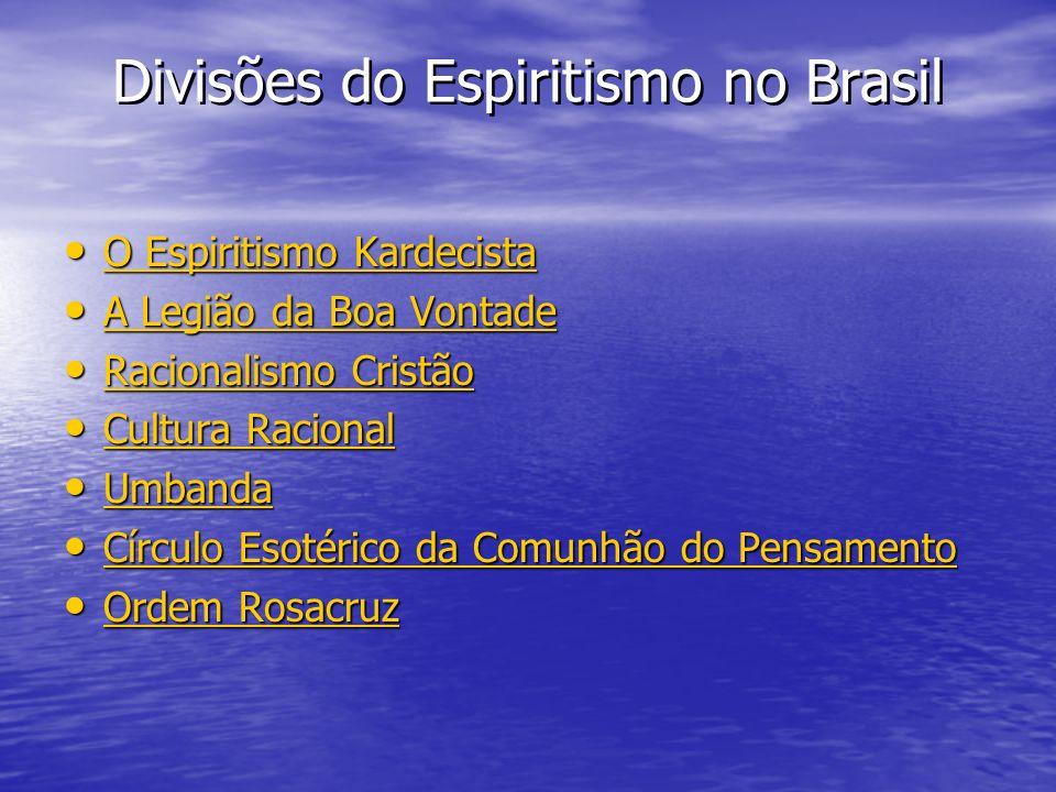 Divisões do Espiritismo no Brasil