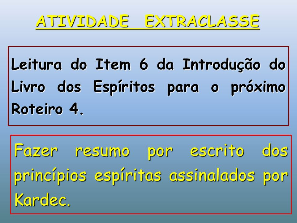 ATIVIDADE EXTRACLASSE