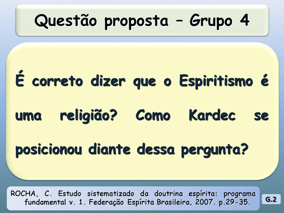 Questão proposta – Grupo 4