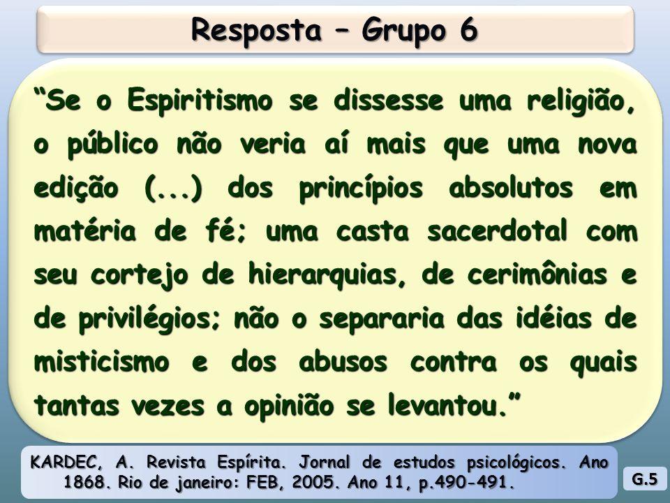 Resposta – Grupo 6