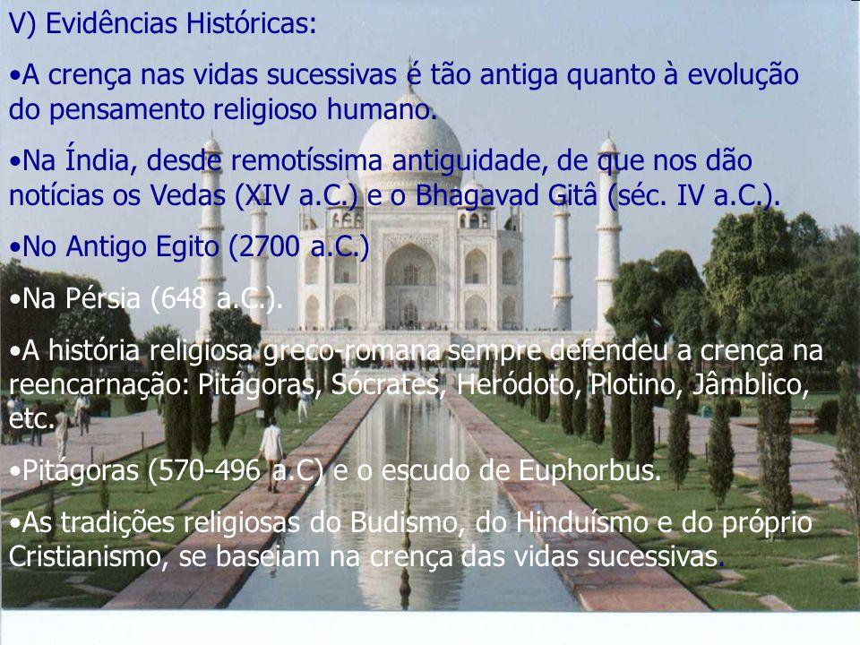 V) Evidências Históricas: