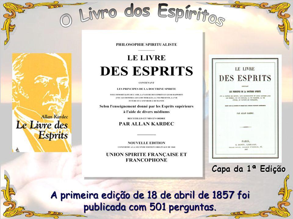 O Livro dos EspíritosCapa da 1ª Edição.