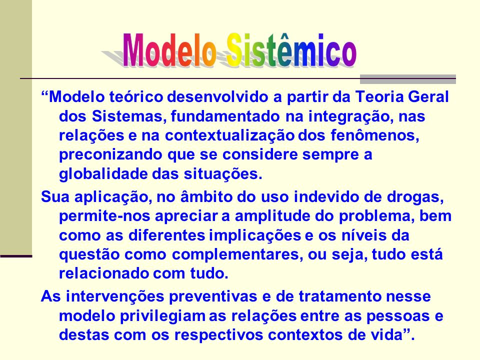 Modelo Sistêmico