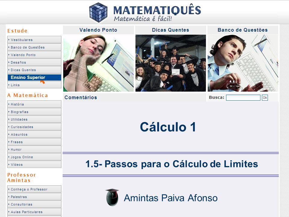 1.5- Passos para o Cálculo de Limites