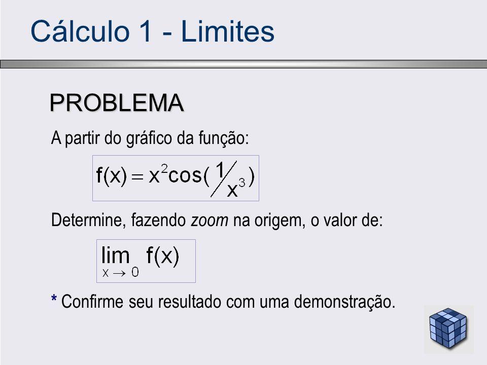 Cálculo 1 - Limites PROBLEMA A partir do gráfico da função: