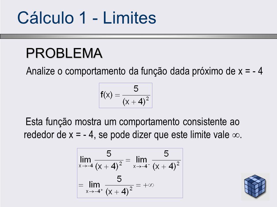 Cálculo 1 - Limites PROBLEMA