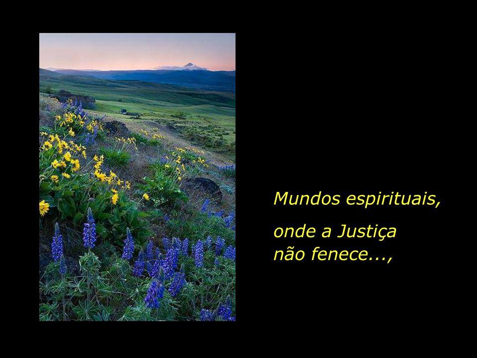 Mundos espirituais, onde a Justiça não fenece...,