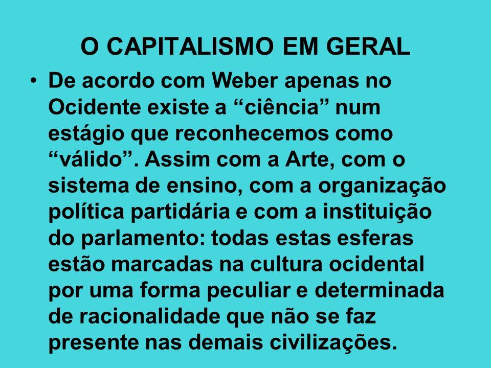 O CAPITALISMO EM GERAL