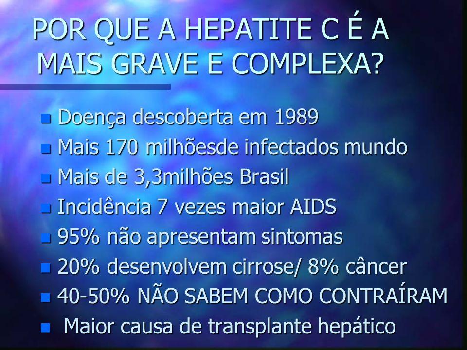 POR QUE A HEPATITE C É A MAIS GRAVE E COMPLEXA