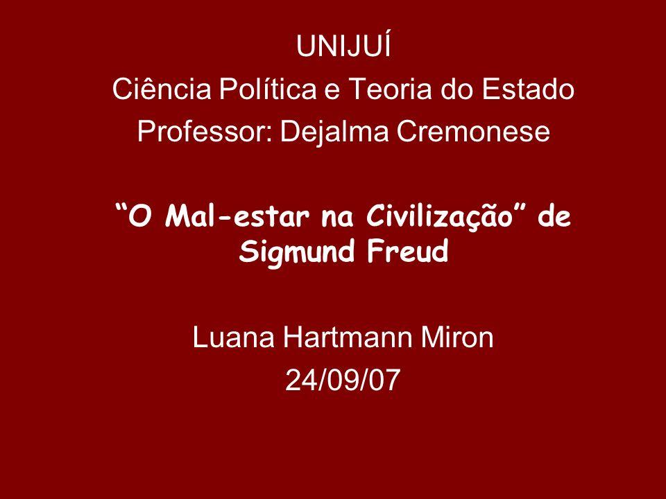 O Mal-estar na Civilização de Sigmund Freud