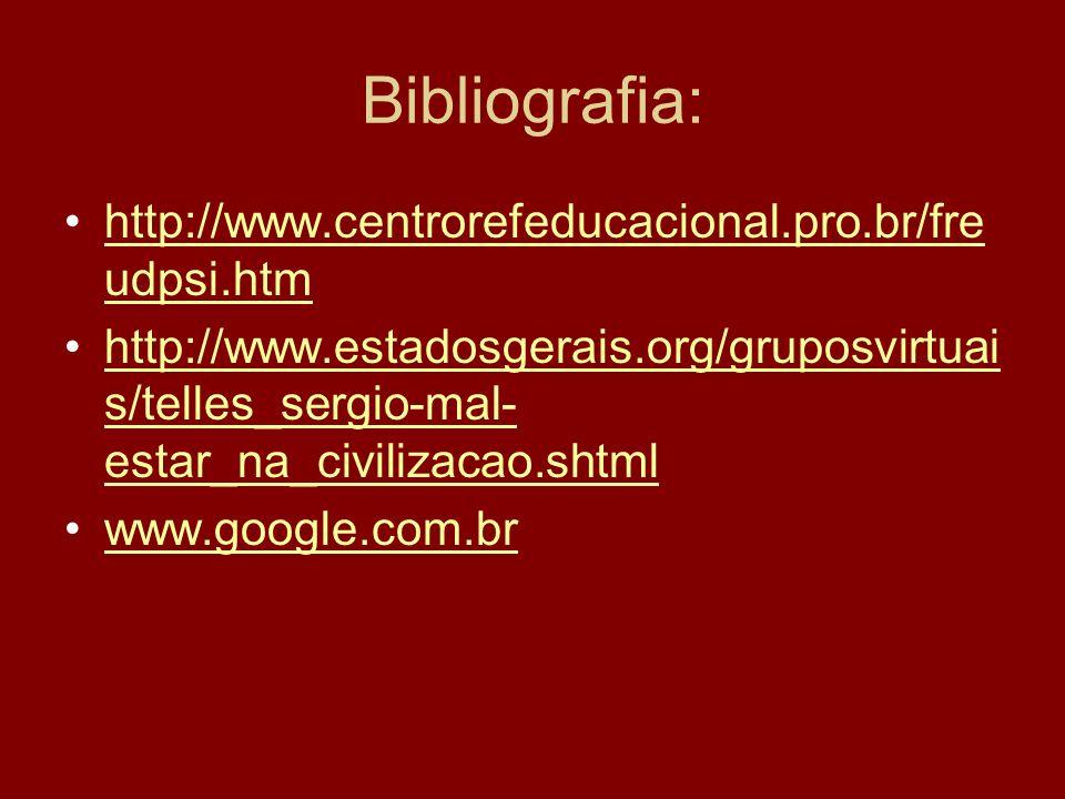 Bibliografia: http://www.centrorefeducacional.pro.br/freudpsi.htm