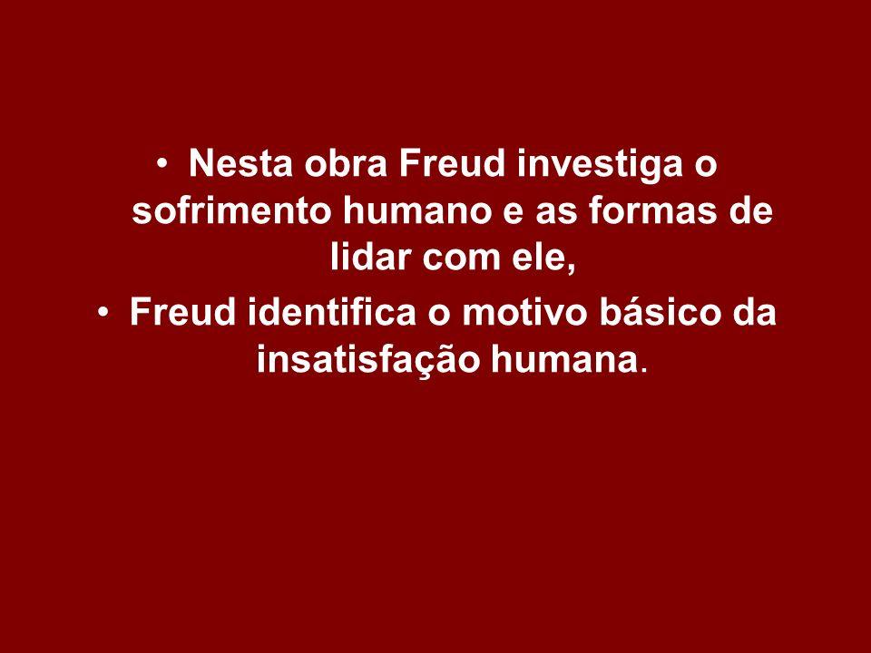 Freud identifica o motivo básico da insatisfação humana.
