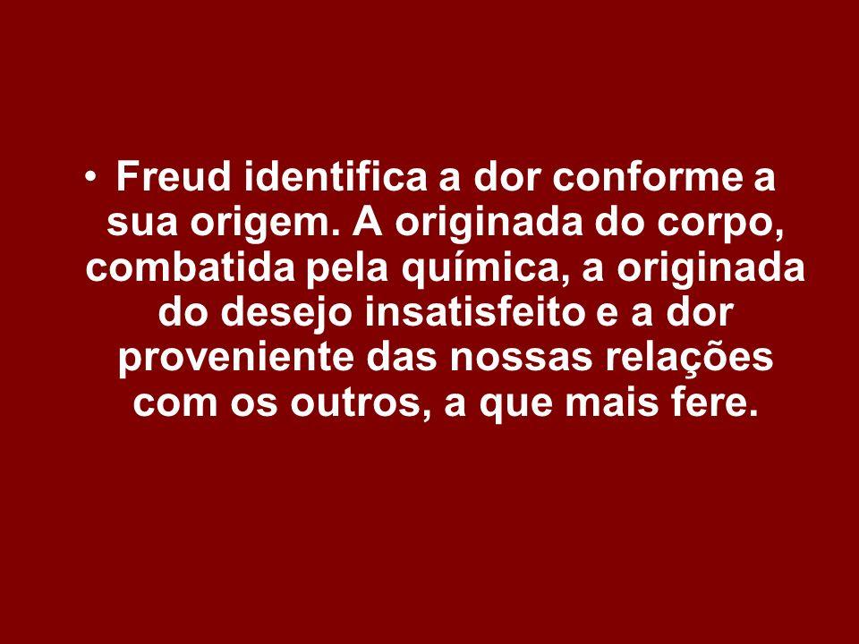 Freud identifica a dor conforme a sua origem