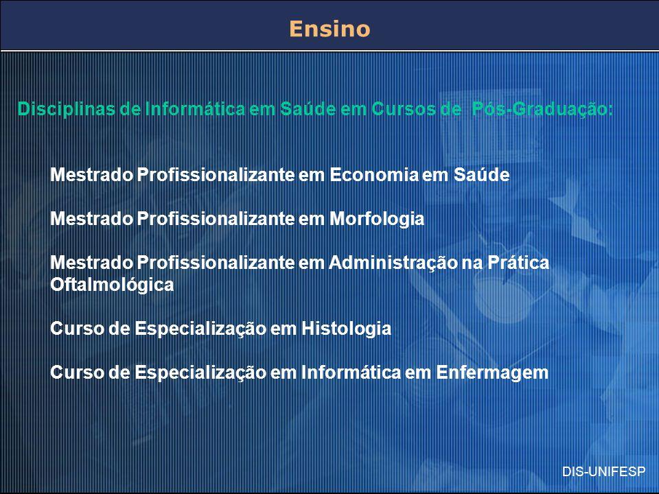 Ensino Disciplinas de Informática em Saúde em Cursos de Pós-Graduação: