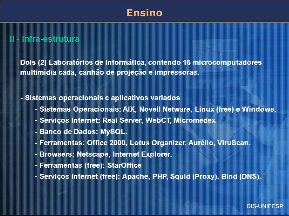 Ensino II - Infra-estrutura