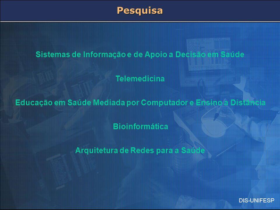 Pesquisa Sistemas de Informação e de Apoio a Decisão em Saúde