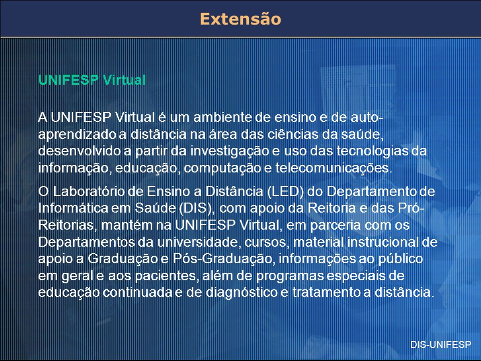 Extensão UNIFESP Virtual