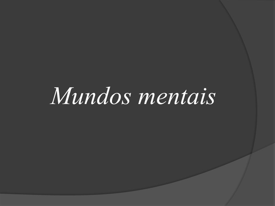Mundos mentais