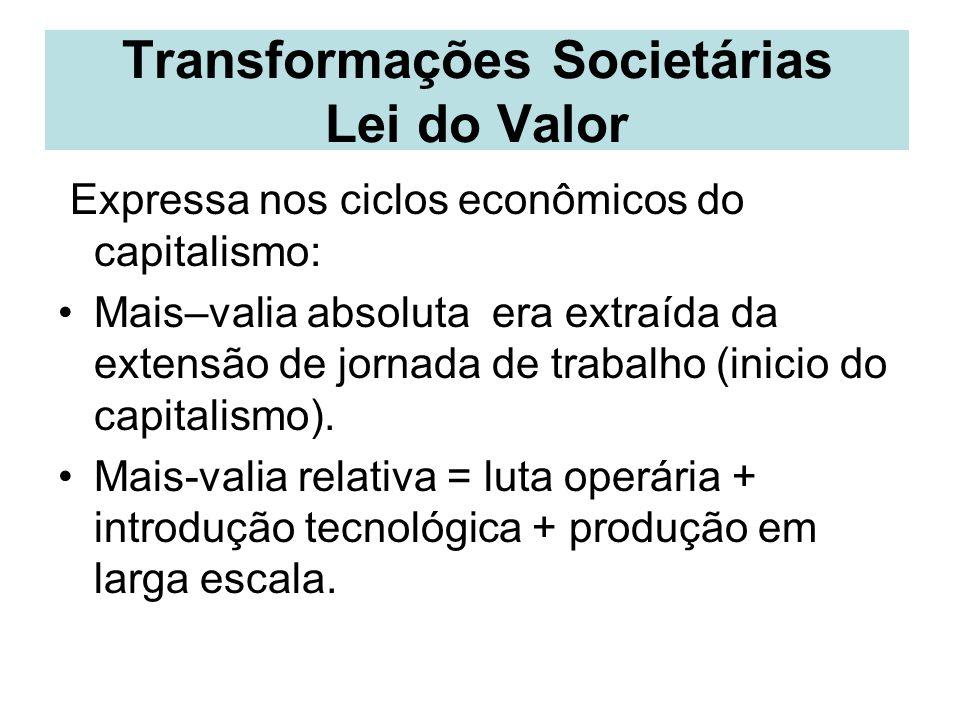 Transformações Societárias Lei do Valor