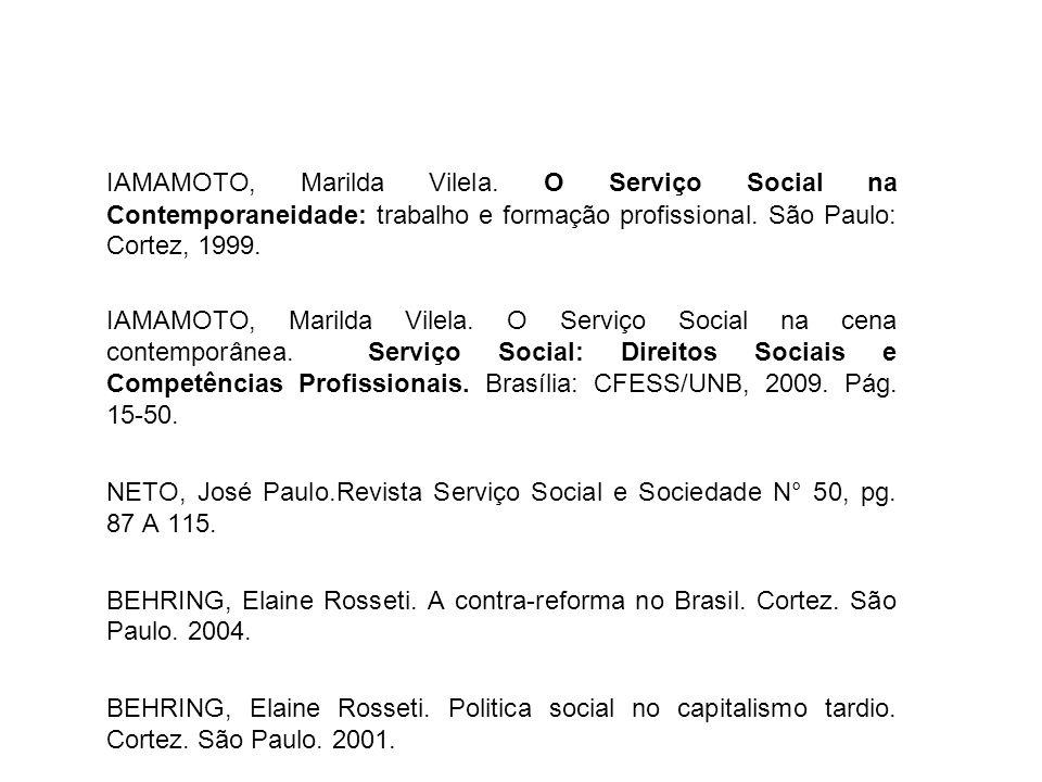 IAMAMOTO, Marilda Vilela