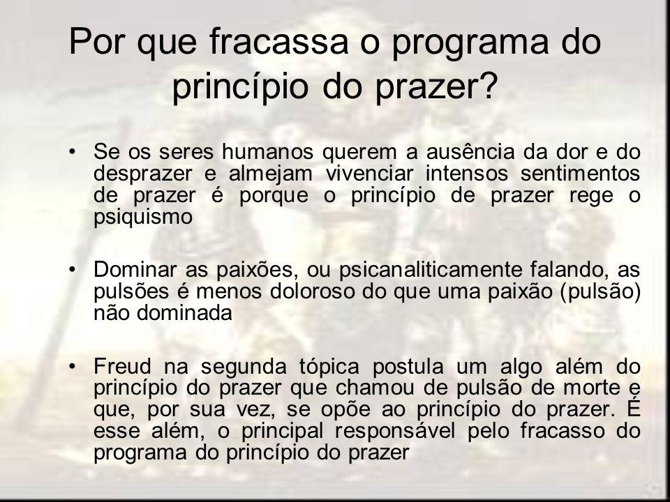Por que fracassa o programa do princípio do prazer