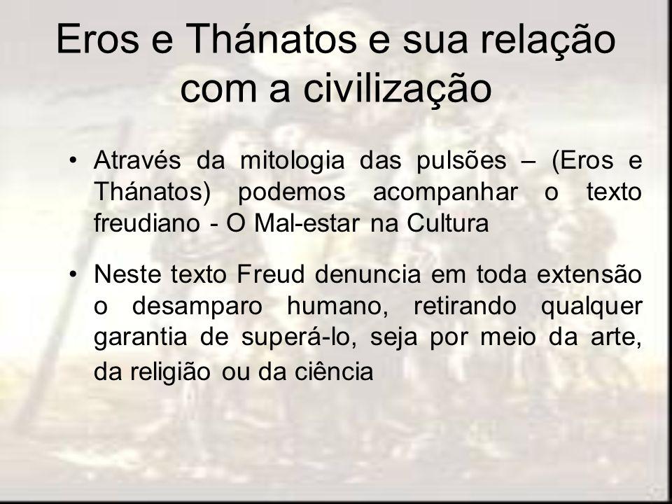 Eros e Thánatos e sua relação com a civilização