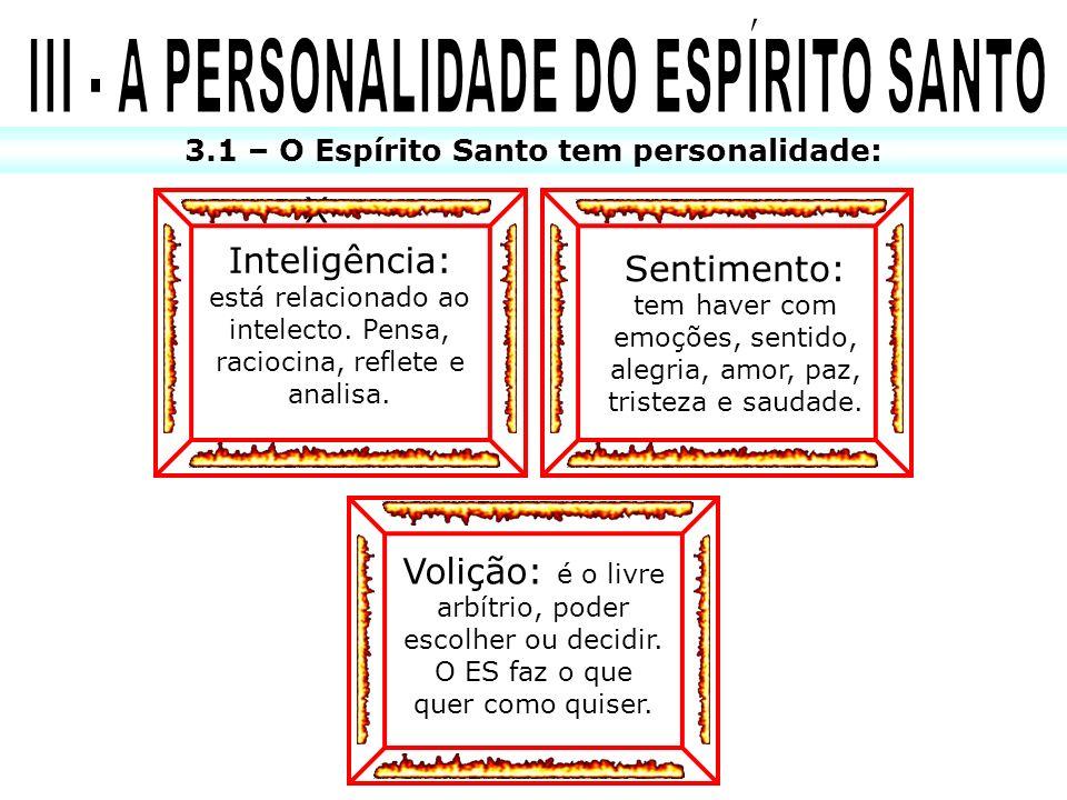 III - A PERSONALIDADE DO ESPÍRITO SANTO