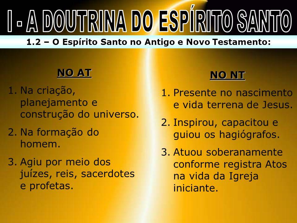 I - A DOUTRINA DO ESPÍRITO SANTO