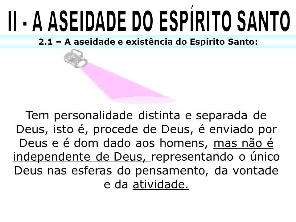 II - A ASEIDADE DO ESPÍRITO SANTO