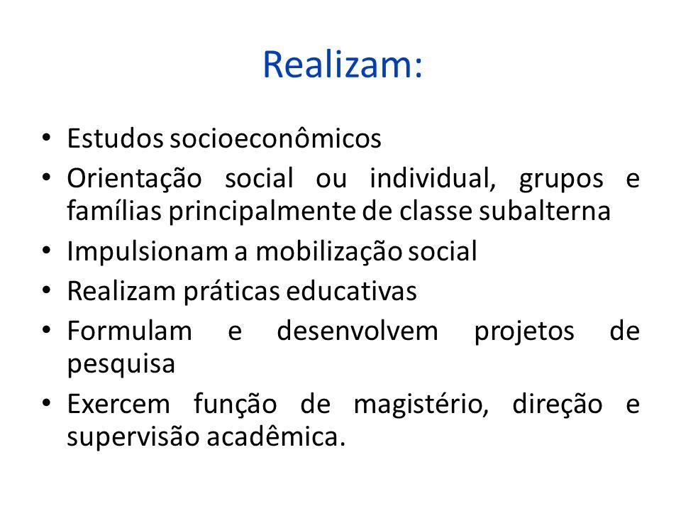 Realizam: Estudos socioeconômicos
