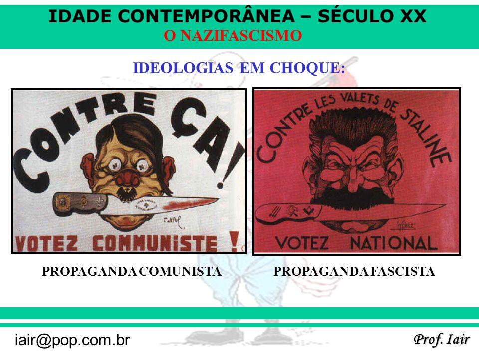 IDEOLOGIAS EM CHOQUE: PROPAGANDA COMUNISTA PROPAGANDA FASCISTA