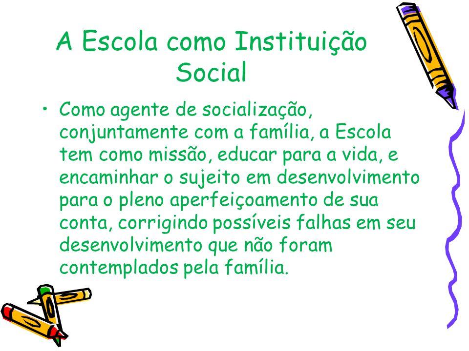 A Escola como Instituição Social