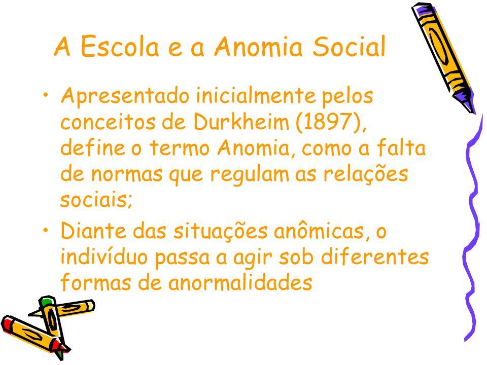A Escola e a Anomia Social