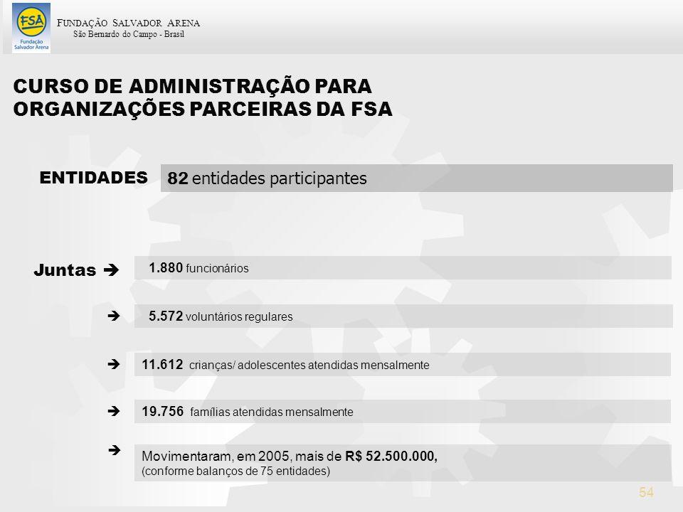 CURSO DE ADMINISTRAÇÃO PARA ORGANIZAÇÕES PARCEIRAS DA FSA