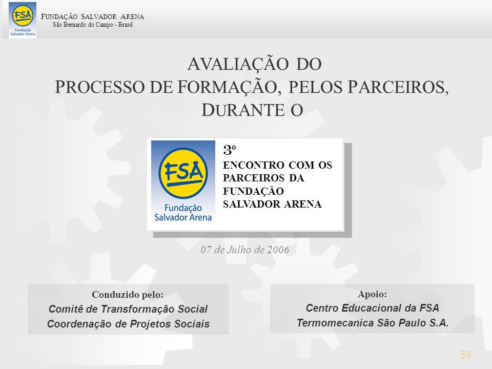 PROCESSO DE FORMAÇÃO, PELOS PARCEIROS, DURANTE O
