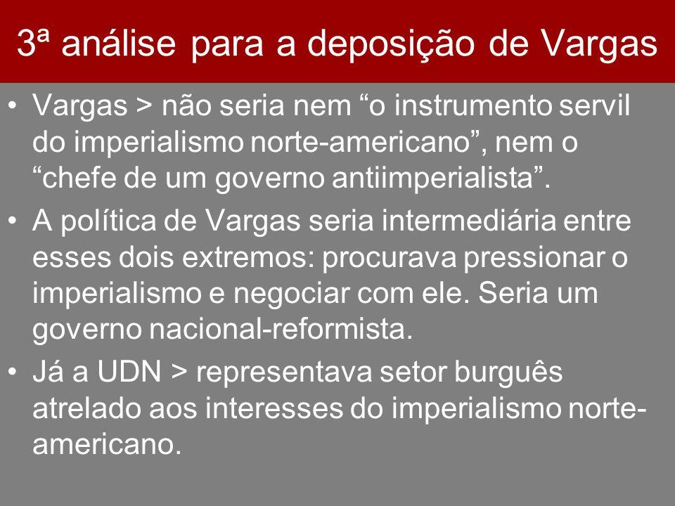 3ª análise para a deposição de Vargas