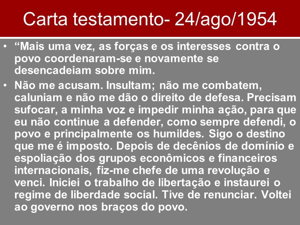 Carta testamento- 24/ago/1954