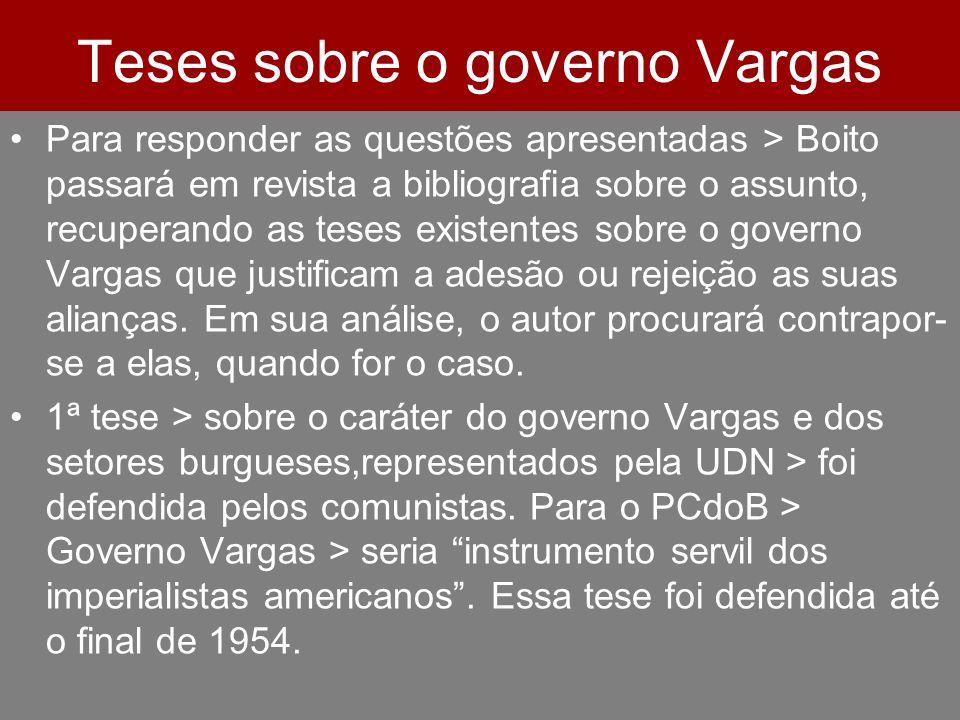 Teses sobre o governo Vargas