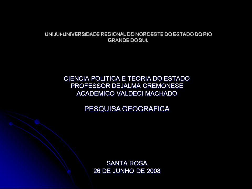 PESQUISA GEOGRAFICA CIENCIA POLITICA E TEORIA DO ESTADO