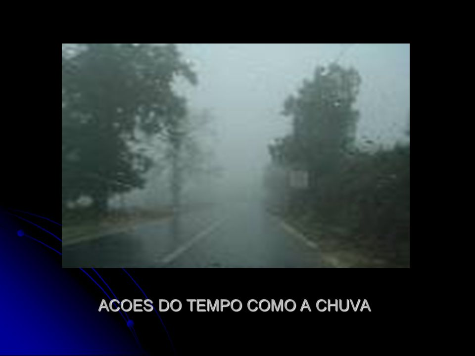ACOES DO TEMPO COMO A CHUVA