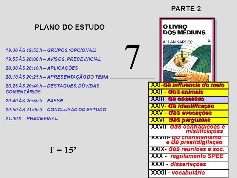 7 T = 15' PARTE 2 PLANO DO ESTUDO XXI-da influência do meio