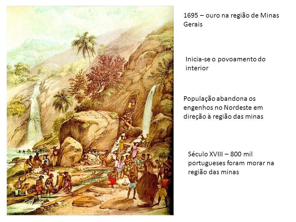 1695 – ouro na região de Minas Gerais