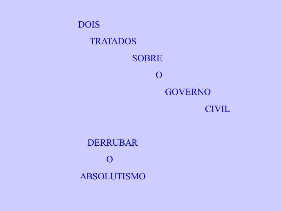 DOIS TRATADOS SOBRE O GOVERNO CIVIL DERRUBAR ABSOLUTISMO