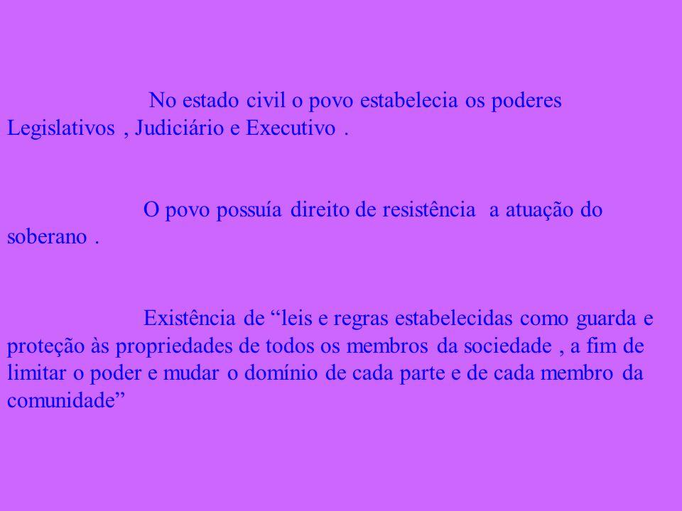 No estado civil o povo estabelecia os poderes Legislativos , Judiciário e Executivo .