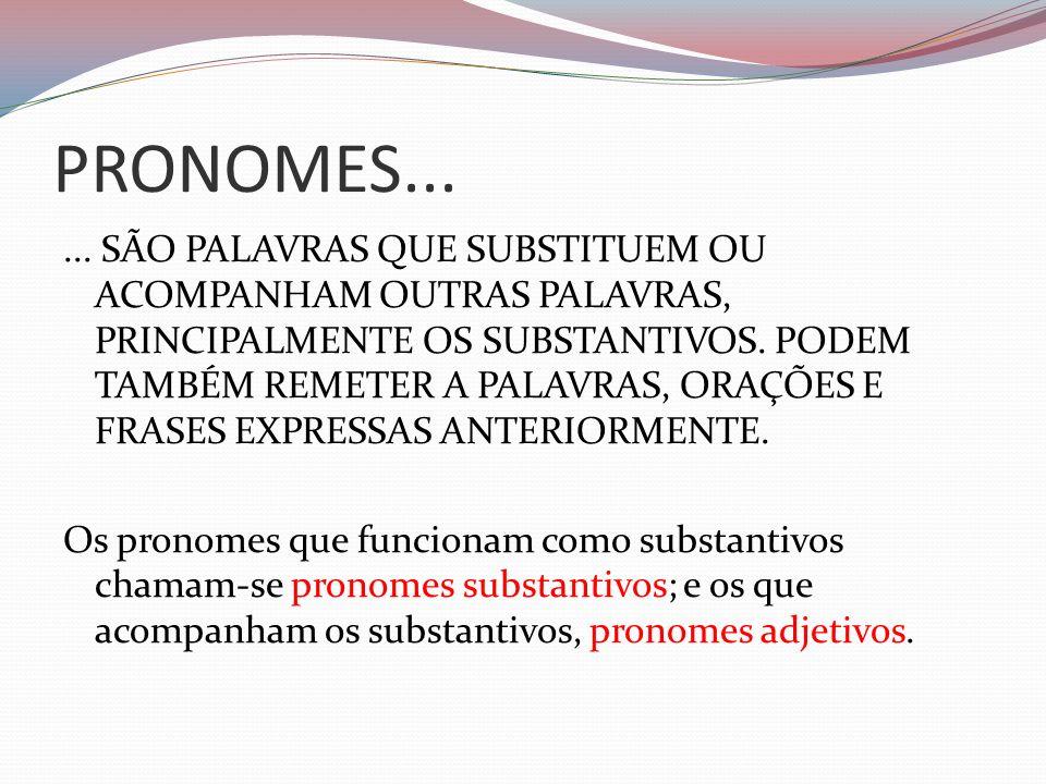 PRONOMES...
