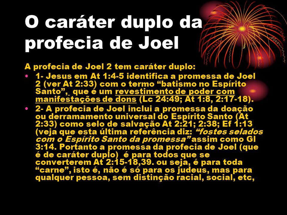 O caráter duplo da profecia de Joel